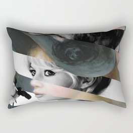 Renoir's Young Girl in a Pink and Black Hat & Brigitte Bardot  Rectangular Pillow