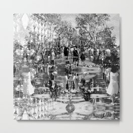 Summer space, smelting selves, simmer shimmers. 25, grayscale version Metal Print