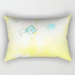 square fantasy yellow dream Rectangular Pillow