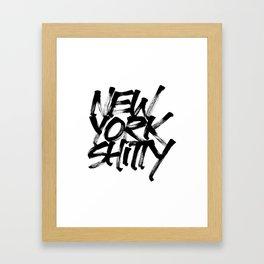 New York Shitty Framed Art Print