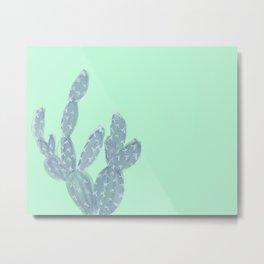 Watercolour Cactus Metal Print