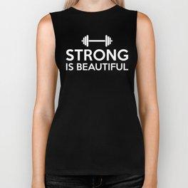 Strong is beautiful Biker Tank