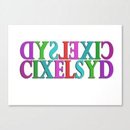 Dyslexic Canvas Print