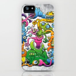 Monstrously Messy iPhone Case