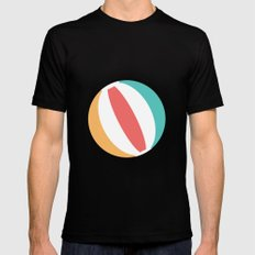 #37 Beachball MEDIUM Black Mens Fitted Tee