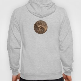 Rough Wood Grain Effect Tree of Life Yin Yang Hoody