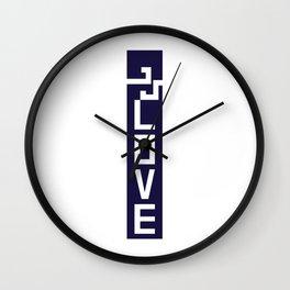 ELOVE - NAVY BLUE Wall Clock