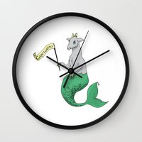 capricorn Wall Clocks featuring Capricorn by Dan Paul Roberts