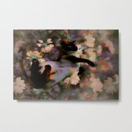 Sulley In A Field Of Flowers Metal Print