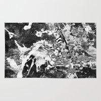 rorschach Area & Throw Rugs featuring Rorschach by Alter Ego