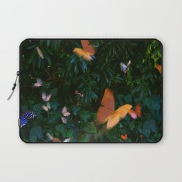 Elegant, Colorful Fantasy Butterflies in Flight Laptop Sleeve