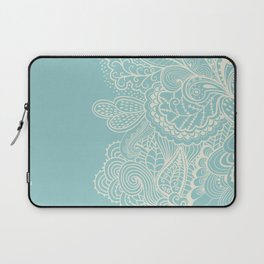 Abstract Nature In Aqua Laptop Sleeve
