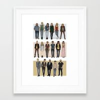 cargline Framed Art Prints featuring Character Line Up by cargdoodles