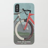 tour de france iPhone & iPod Cases featuring Tour De France Bicycle by Wyatt Design