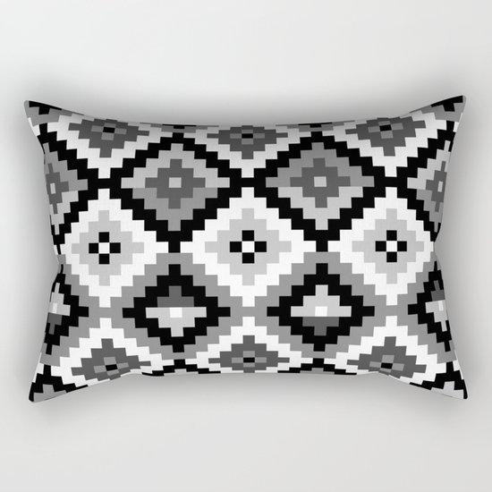 Aztec pattern - black & white Rectangular Pillow