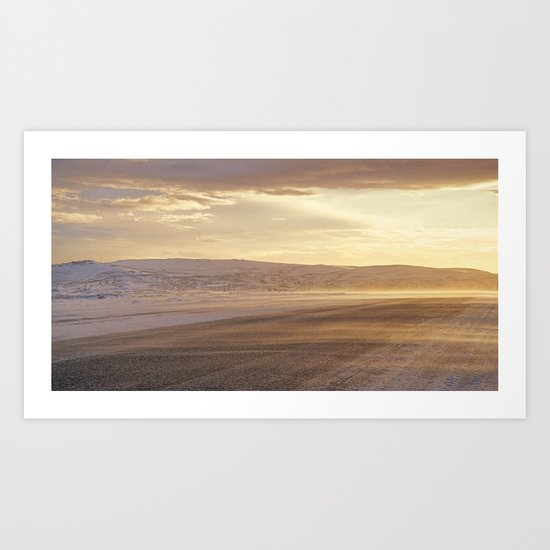 Golden road Art Print
