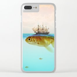 Goldfish Tall Ship Clear iPhone Case