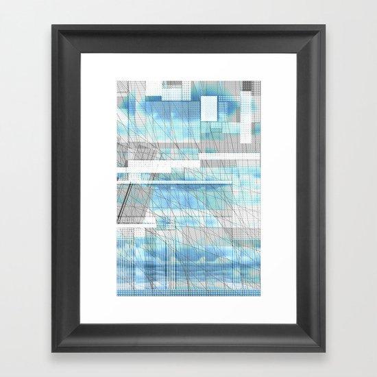 Sky Scraped Framed Art Print