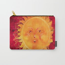 Digital painting of a chubby sun with a funny face Carry-All Pouch