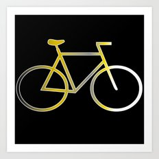 Bike - Black Art Print