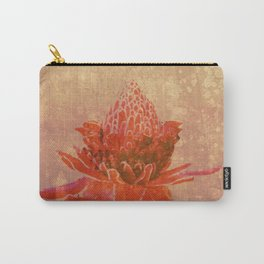 Red Ginger Flower Carry-All Pouch
