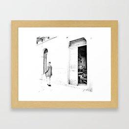 Vulture: old shoemaker and old man Framed Art Print