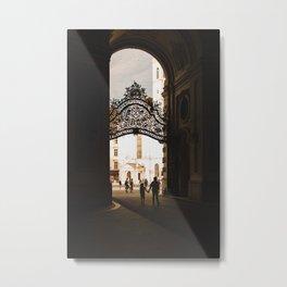 Iron gate passage in Vienna, Austria Metal Print