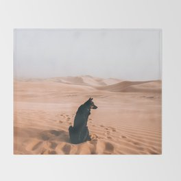 Find your way back home | Imperial Sand Dunes, California Throw Blanket