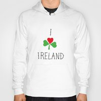 ireland Hoodies featuring Ireland by David