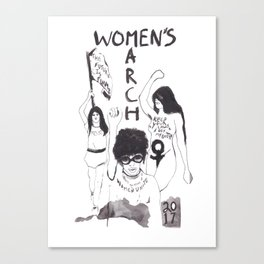 Women's March - by Maria Paredes Canvas Print