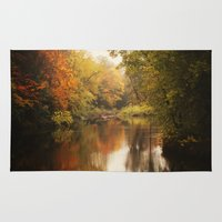 wisconsin Area & Throw Rugs featuring A Wisconsin River by Slight Clutter