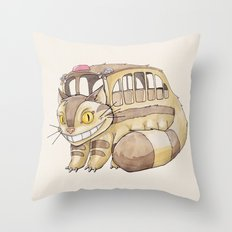 Magical Bus Ride Throw Pillow