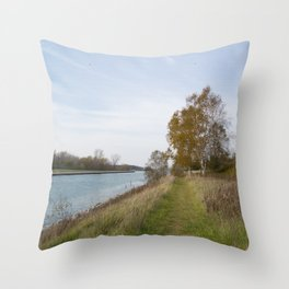 Sturgeon Bay Canal Throw Pillow