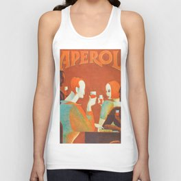 Aperol 'Salute!' Wine and Wine Alcohol Aperitif Vintage Advertisement Poster Unisex Tank Top