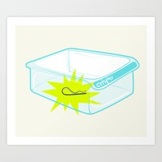 Cotter pin in the rotter bin! Art Print
