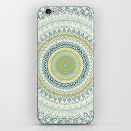 Light Yellow Aqua Mandala iPhone Skin
