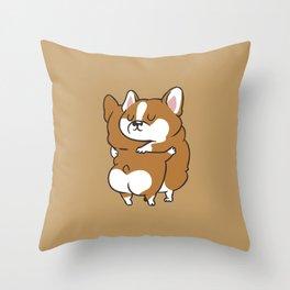 Corgi Hugs Throw Pillow