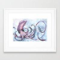 squid Framed Art Prints featuring Squid by Danielle Borisoff