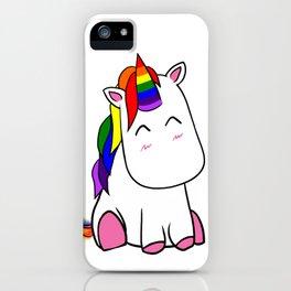 Lenny the Unicorn iPhone Case