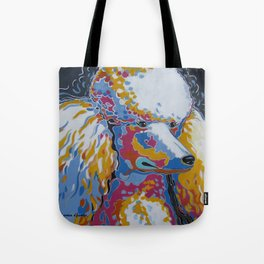 Daisy the Standard Poodle Pop Art Dog Portrait Tote Bag