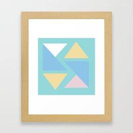 Triangle origami pastel pattern art Framed Art Print