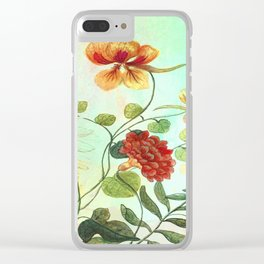 Simply Divine, Vintage Botanical Illustration Clear iPhone Case