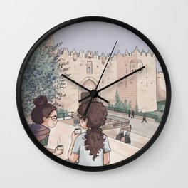 Damascus gate tea Wall Clock