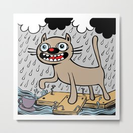 RAIN CATS Metal Print