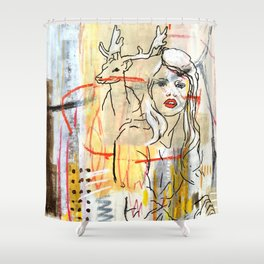 she Shower Curtain