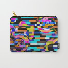Upset The System - Where Arcs And Geometry Meet Abstract Artwork Carry-All Pouch