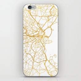 BOSTON MASSACHUSETTS CITY STREET MAP ART iPhone Skin