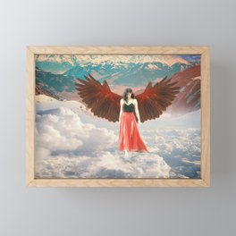 Lady of the Clouds Framed Mini Art Print