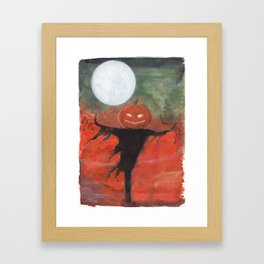 Halloween Moon Framed Art Print