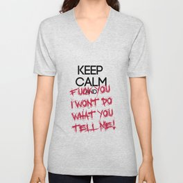 keep Calm Unisex V-Neck